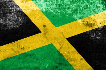 identidad cultural: Bandera de Jamaica con un aspecto vintage y vieja