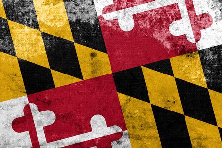 identidad cultural: Bandera del estado de Maryland con un aspecto vintage y vieja