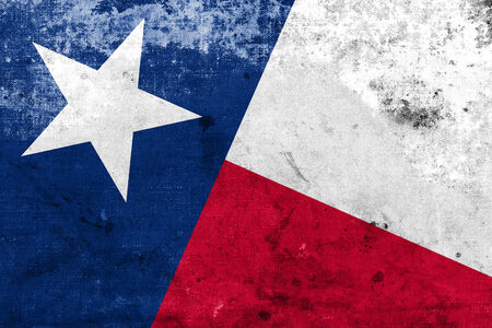 Texas State Flag with a vintage and old look photo