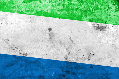 Sierra Leone Flag with a vintage and old look photo