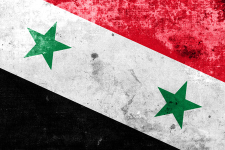 Syria Flag with a vintage and old look photo