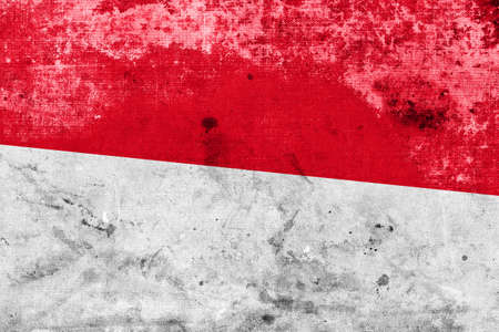 Indonesia Flag with a vintage and old look photo