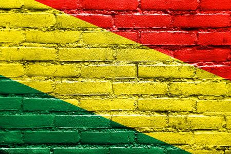 bandera de bolivia: Bolivia bandera pintada en la pared de ladrillo