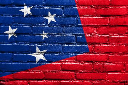 samoa: Samoa Flag painted on brick wall