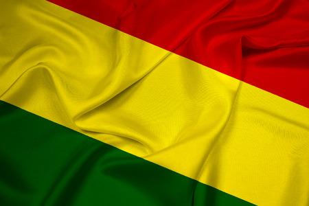 bandera bolivia: Ondeando la bandera de Bolivia Foto de archivo