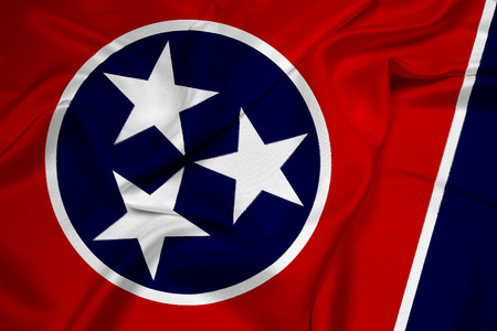 foreign country: Waving Tennessee State Flag