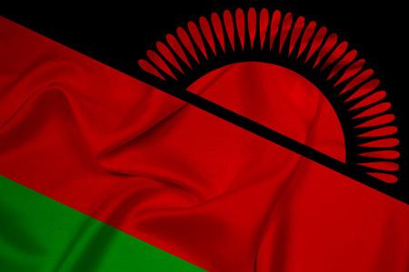 malawi: Waving Malawi Flag