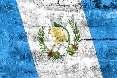 bandera de guatemala: Bandera Guatemala pintado en la pared del grunge