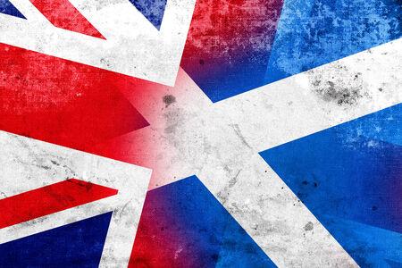 Grunge Scotland and United Kingdom Flag photo