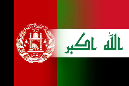 iraq flag: Afghanistan and Iraq Flag