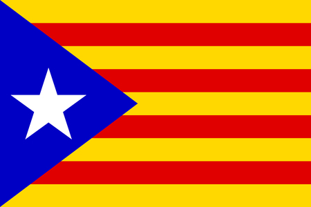 independent: Independent Catalonia Flag Stock Photo
