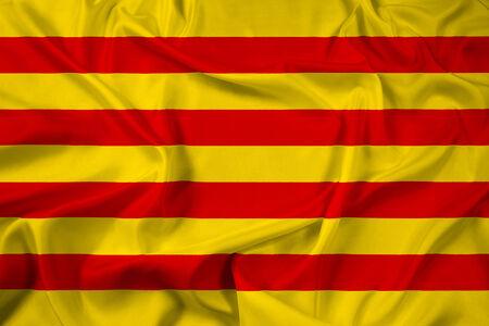 Waving Catalonia Flag Stock Photo