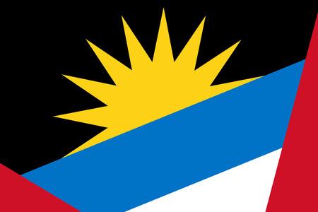 antigua and barbuda: Antigua and Barbuda Flag. Close up.