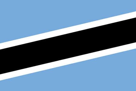 botswana: Botswana Flag. Close up.