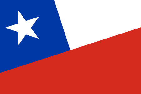 chilean: Chile Flag. Close up.
