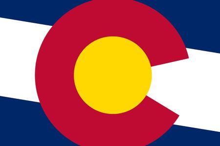 colorado flag: Colorado State Flag. Close up. Stock Photo