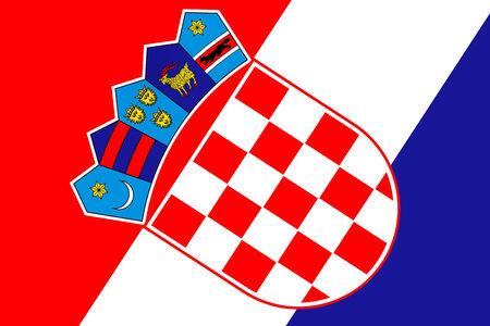 bandiera croazia: Bandiera Croazia. Avvicinamento.