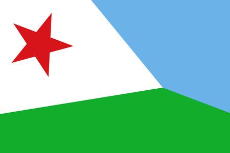 djibouti: Djibouti Flag. Close up.