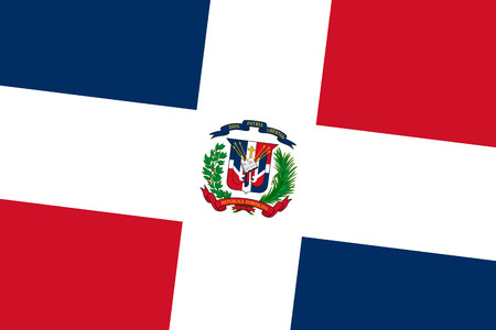 dominican republic: Dominican Republic Flag. Close up.