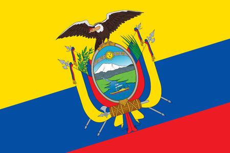 ecuadorian: Ecuador Flag. Close up. Stock Photo