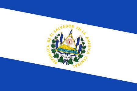 el salvador flag: El Salvador Flag. Close up. Stock Photo