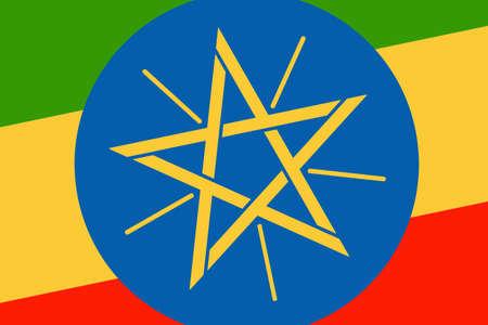 ethiopia flag: Ethiopia Flag. Close up.