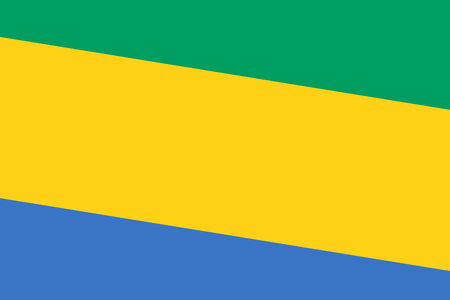 gabon: Gabon Flag. Close up.