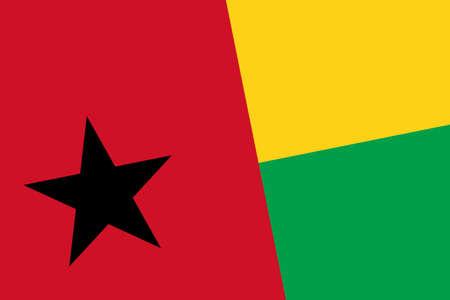 guinea bissau: Guinea Bissau Flag. Close up.