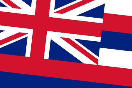 hawaii flag: Hawaii Flag. Close up. Stock Photo