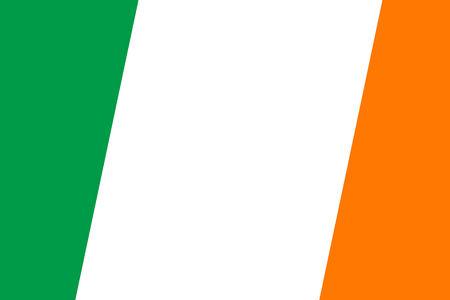 Ireland Flag. Close up. photo