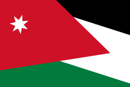 close up: Jordan Flag. Close up.