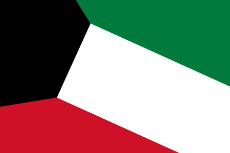 kuwait: Kuwait Flag. Close up. Stock Photo