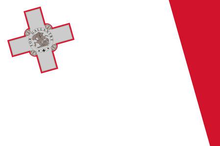 commonwealth: Malta Flag. Close up.