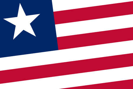 Liberia Flag. Close up. photo