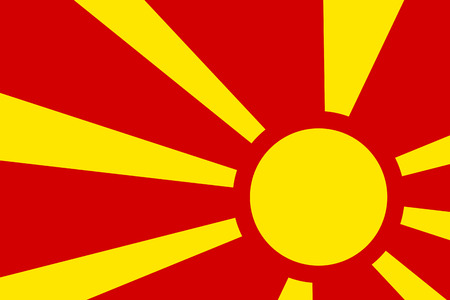 macedonia: Macedonia Flag. Close up.