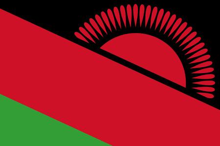 malawi: Malawi Flag. Close up.