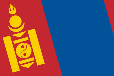 independent mongolia: Mongolia Flag. Close up.