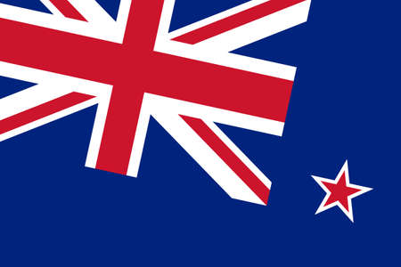 commonwealth: New Zealand Flag. Close up.