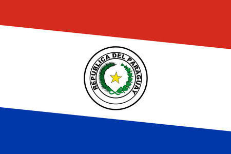 Paraguay flag: Bandera Paraguay. De cerca. Foto de archivo