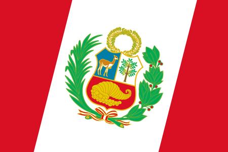 Peru Flag. Close up. photo