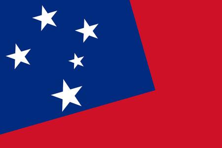 samoa: Samoa Flag. Close up.