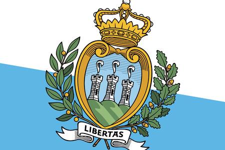 sammarinese: San Marino Flag. Avvicinamento. Archivio Fotografico