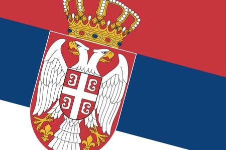 Serbia Flag. Close up. photo