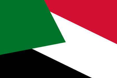 sudan: Sudan Flag. Close up.