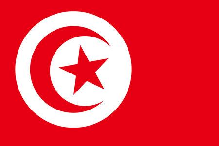 commonwealth: Tunisia Flag. Close up.
