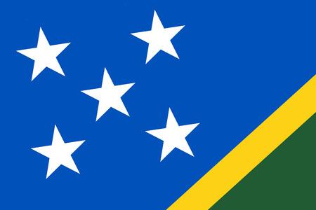 commonwealth: Solomon Islands Flag. Close up.