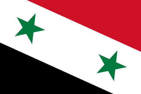 close up: Syria Flag. Close up. Stock Photo