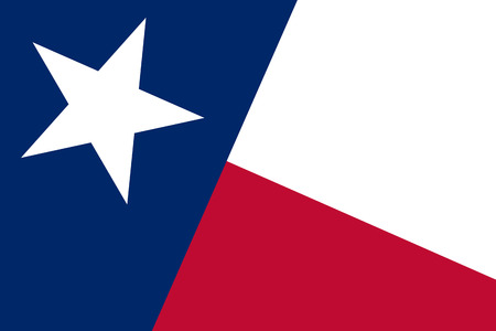 state government: Texas State Flag. Close up.