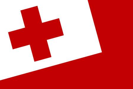 tonga: Tonga Flag. Close up. Stock Photo