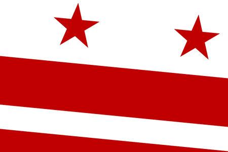 commonwealth: Washington DC Flag. Close up.
